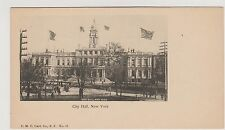 CITY HALL 1898 PRIVATE MAILING CARD OF NYC