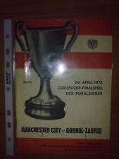 Programme Manchester City England - Gornik Poland 1970 FINAL