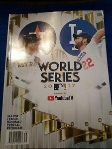 2017 World Series Program Astros vs Dodgers NEW Mint