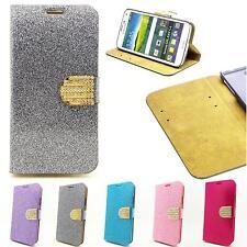 Handy Tasche APPLE HTC LG Schutz Hülle Strass Flip Cover Case Etui Schale Wallet