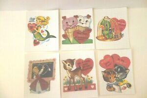 14 Vintage Valentine Card Gift Tags Little Deer Prints