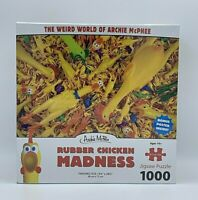 Rubber Chicken 1000 Piece Puzzle Madness Archie McPhee Novelty Humor Family Fun