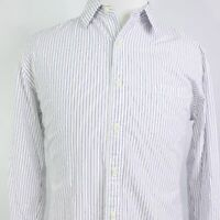 J CREW LONG SLEEVE STRIPED 2-PLY COTTON BUTTON DOWN SHIRT MENS SIZE L