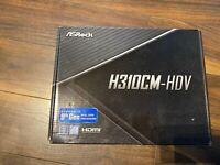 ASRock H310CM-HDV mATX Motherboard for Intel LGA1151 CPUs - H310CM-HDV