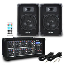 PA Speaker System 400w with 8 Channel Mixer Amplifer for Live Performances