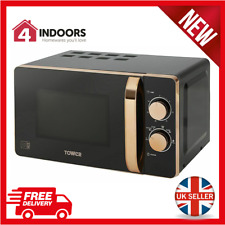 Tower T24020 20L Solo Manual 20L 800W Microwave Black And Rose Gold - Brand New