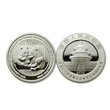 China 2009 Panda 30th Anniversary Modern Commemorative 1 oz Silver Coin