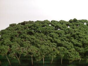 100 NEW N SCALE TREES GREAT 4 HO S O  TRAIN LAYOUTS WAR DIORAMAS ALMOST GONE