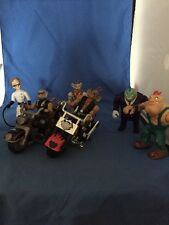 BIker Mice From Mars LOT Motorcycles 7 Figures  1993 Galoob