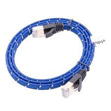 Ethernet câble Cat7, 10 Gigabit plat RJ45 bleu 1m
