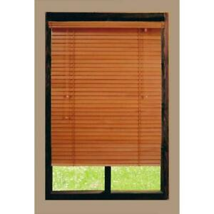Home Decorators Golden Oak 2 in. Real Wood CORDED Blind - 34 in. W x 64 in. L