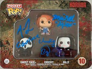 Matthew Lillard Tobin Bell Ed Gale autographed inscribed Funko Pop PSA Scream