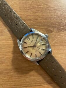 Tudor Oyster Prince Date 9050/0 tanned dial unpolished steel approx 34-35mm case