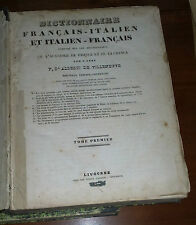 DIZIONARIO ITALIANO-FRANCESE E FRANCESE-ITALIANO ALBERTI DI VILLANOVA   1800
