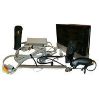 Nintendo Wii Black console system RVL-001 w/ Wii Motion Plus Remote & Nunchuck