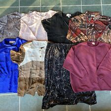 Lot of 8 plus size women's size 24W/3X/26W tops long sleeves skirt clothing