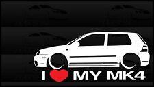 I Heart My MK4 Sticker Love VW Volkswagen Slammed Euro Germany Golf R32