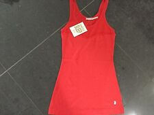 NWT Juicy Couture New Ladies & Gen.Small Red Glitter Cotton Sleep Tank With Logo