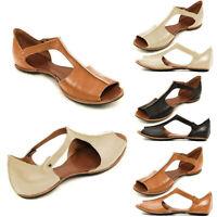 Women Sandals Summer Flat Shoes Open Toe Ankle Roman Fish Mouth Sandals 50