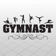 Gymnast Wall Decal- Vinyl Gymnast Sticker- Kids Gymnast Room Decor- gymnastics