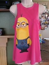 Girls Despicable ME Minion Pink Tank Top-Size S-