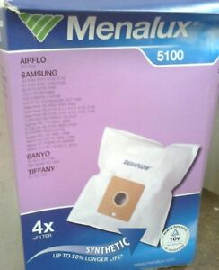 MENALUX VACUUM CLEANER BAGS - FOR AIRFLO/SAMSUNG/SANYO/TIFFANY   - (R5)