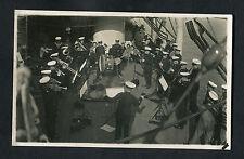 C1930s View of Royal Marine Band Playing on HMS Shropshire
