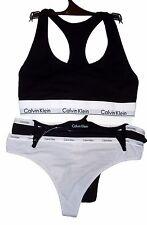 Calvin Klein 3 Piece Bralette Bustier & Bikini Panties Medium Black Gray NWT $54