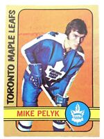 1972-73 Mike Pelyk Toronto Maple Leafs 17 OPC O-Pee-Chee Hockey Card N907