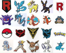 Pokemon Patches Embroidered Iron on Badges Costume Cosplay Aufnäher Toppa Parche