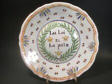 Antique French Faience Revolutionary Plate c.1800's