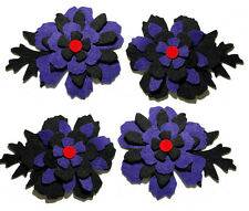 Halloween Felt Flowers Die Cuts Trimmings Floral Black Red Appliques Sizzix Goth