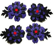 Halloween De Fieltro Flores Die Cuts Adornos Floral Negro Rojo Apliques Sizzix Goth