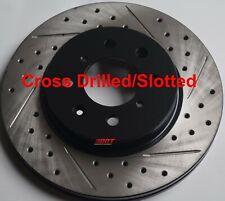 99-00 Honda Civic Si Drilled Slotted Brake Rotors F+R