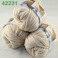 Sale Lot of 3 Balls Soft Worsted Cotton Chunky Bulky Hand Knitting Quick Yarn 31