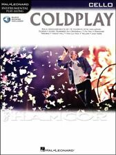Coldplay Cello Instrumental Play-Along Sheet Music Book/Audio SAME DAY DISPATCH