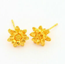 24K Yellow Gold Plated Jewelry Muti-Floor Flower Woman Earrings Stick JE006
