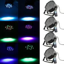 4Stk. 36W LED RGB Flat PAR Licht DMX 512 Bühnenlicht Beleuchtung 7 Steuerkanäl