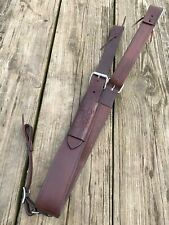 Dark oil leather complete flank/rear cinch 2 1/2