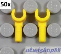 LEGO - Set of 100 (50 Pairs) Yellow Minifigure Hands Gloves Torso Arms Bulk Lot