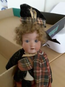 """Armand Marseille Bisque Dolly Face Scottish Character Doll Germany 390 9"""""""