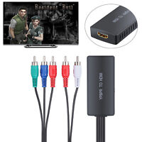 1080P YPbPr to HDMI Converter Component to HDMI 5RCA RGB Adapter USB power cable