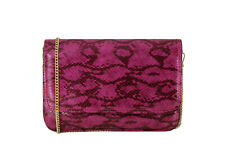 LONI Snakeskin Python Animal Print Clutch Wedding Prom Party Bag Compact Size