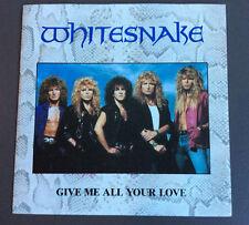 """WHITESNAKE - Give Me All Your Love 7"""" Vinyl Single VG 1987 UK Press"""