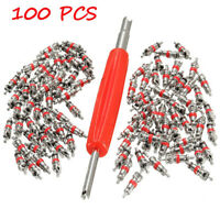 100X Hot Sale Car Truck Replacement Tire Tyre Valve Stem Core Part With Wrench
