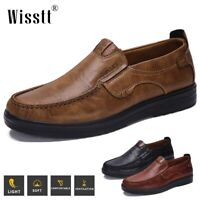 Men's Leather Casual Shoes Wedding Business Formal Work Driving Antiskid Loafers