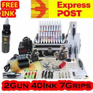 Tattoo Kit Machine 2 Guns 40 Inks Power Supply RRP$199