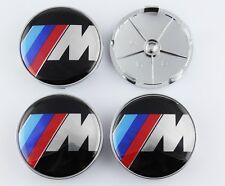 4pcs M Power Wheel Auto Center Hub Cap Badge Emblem Sticker Fit for BMW M X 68mm