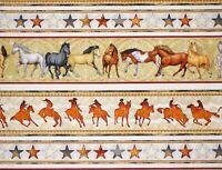 HORSES  MUSTANG SUNSET FABRIC DAN MORRIS QUILTING TREASURES  STRIPE  BY THE YARD