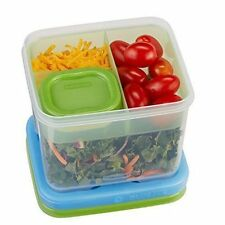 Rubbermaid Lunch Blox Salad Kit With Topping Tray & Dressing Container